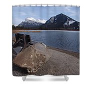 Vermillion Lakeside Shower Curtain