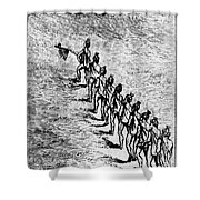 Peace Pipe Ceremony, 1718 Shower Curtain