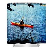 Peaceful Canoe Ride Ll Shower Curtain