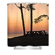 Peaceful Evening Picnic 7109 Shower Curtain