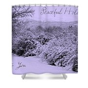 Peaceful Holidays To You Shower Curtain