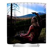Peaceful Meditation - Nude Shower Curtain