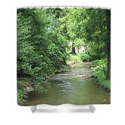 Peaceful Mountain Stream Shower Curtain