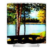 Peaceful Picnic Shower Curtain