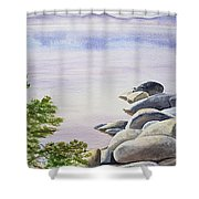 Peaceful Place Morning At The Lake Shower Curtain