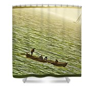 Peaceful Rolling Shower Curtain