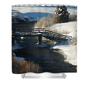 Peaceful Winter Day Shower Curtain