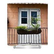 Peach Balcony Shower Curtain