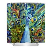 Peacock Party Shower Curtain