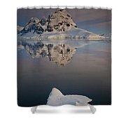 Peak On Wiencke Island Antarctic Shower Curtain by Colin Monteath