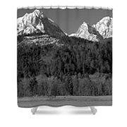 Peaks Near Schwangau In The Bavarian Alps Shower Curtain