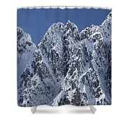 Peaks Of Takhinsha Mountains Shower Curtain