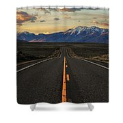 Peaks To Craters Highway Shower Curtain by Benjamin Yeager