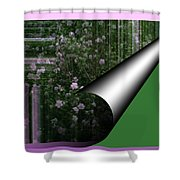Pealing Wallpaper Shower Curtain