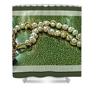 Pearl Bracelet Shower Curtain