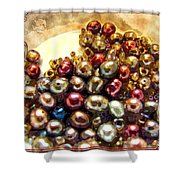 Pearls In A Pile  Art Shower Curtain