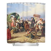 Peasants Of The Campagna Shower Curtain