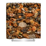 Pebbles And Stones On The Beach Shower Curtain