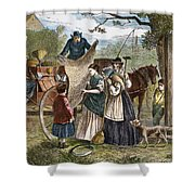 Peddlers Wagon, 1868 Shower Curtain