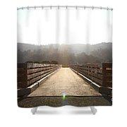 Pedestrian Bridge At Martinez Regional Shoreline Park In Martinez California . 7d10534 Shower Curtain