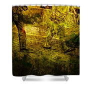 Pedestrians On The Move No. Ol5 Shower Curtain