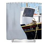 Peek-a-boat Shower Curtain