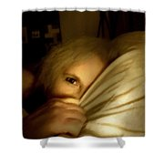 Peekaboo By Candlelight Shower Curtain