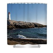 Peggy's Cove Light Shower Curtain