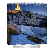 Peggys Cove Lighthouse Nova Scotia Shower Curtain