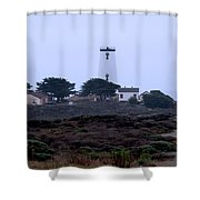 Peidras Blancas Lighthouse Shower Curtain