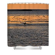 Pelican Lift-off Shower Curtain