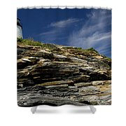 Pemaquid Point Lighthouse Shower Curtain
