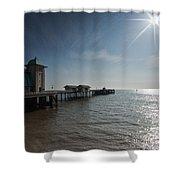 Penarth Pier Sun Shower Curtain