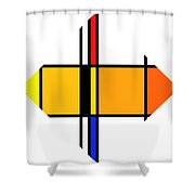 Pencil Figure Shower Curtain