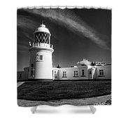 Pendeen Lighthouse Mono Shower Curtain