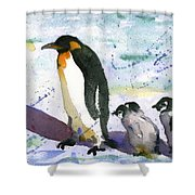 Penguin March Shower Curtain