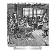 Penn And Colonists, 1682 Shower Curtain