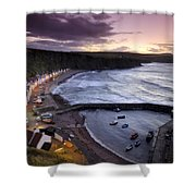 Pennans Cottages And Shower Curtain