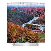 Pennsylvania Color Shower Curtain