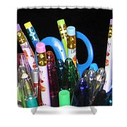 Pens And Pencils Shower Curtain