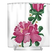 Peony In Pink Shower Curtain by Anne Norskog