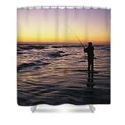 People Are Surf Fishing For Red Drum Shower Curtain
