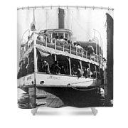 People Fleeing Galveston After Flood - September 1900 Shower Curtain