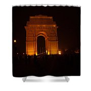People Gathered Around India Gate Shower Curtain