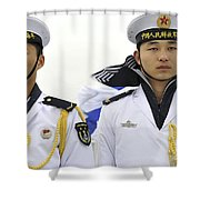 Peoples Liberation Army Navy Sailors Shower Curtain by Stocktrek Images