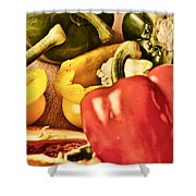 Peppered 4 Shower Curtain