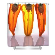 Peppers In Half Shower Curtain