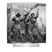 Pequot War, 1636-3 Shower Curtain