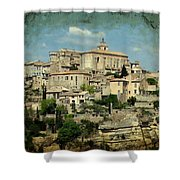 Perched Village Of Gordes Shower Curtain