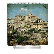 Perched Village Of Gordes Shower Curtain